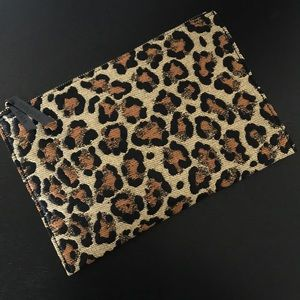 Veronica Beard Leopard Envelope Clutch